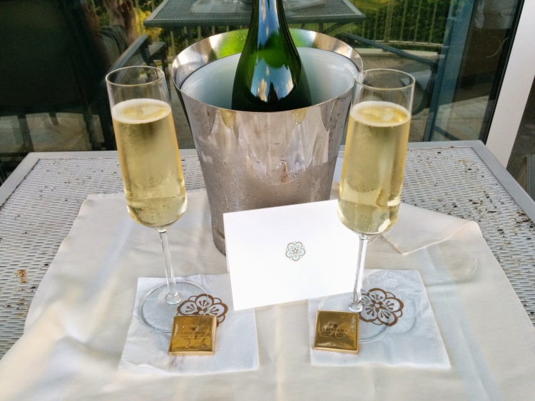 Champagne and chocolates for our anniversary at The Kahala