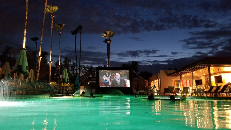 Saturday night movie by the pool at the Andaz Scottsdale