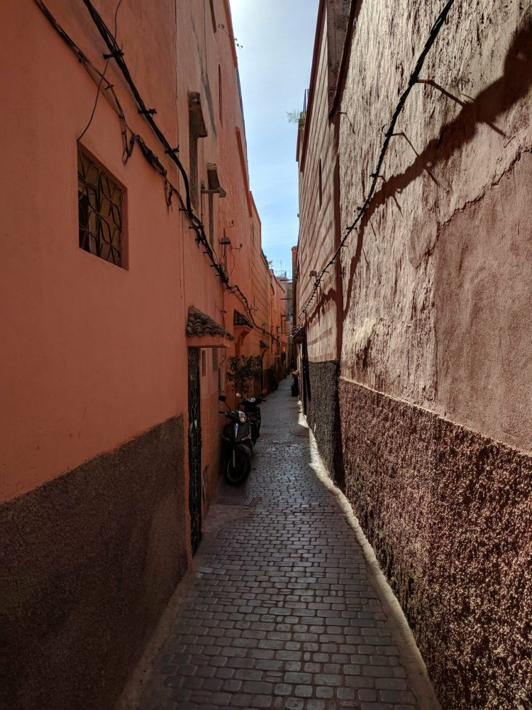 Walking through the medina
