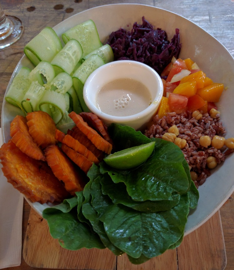 Delicious salad bowl from Sister Srey in Siem Reap Cambodia