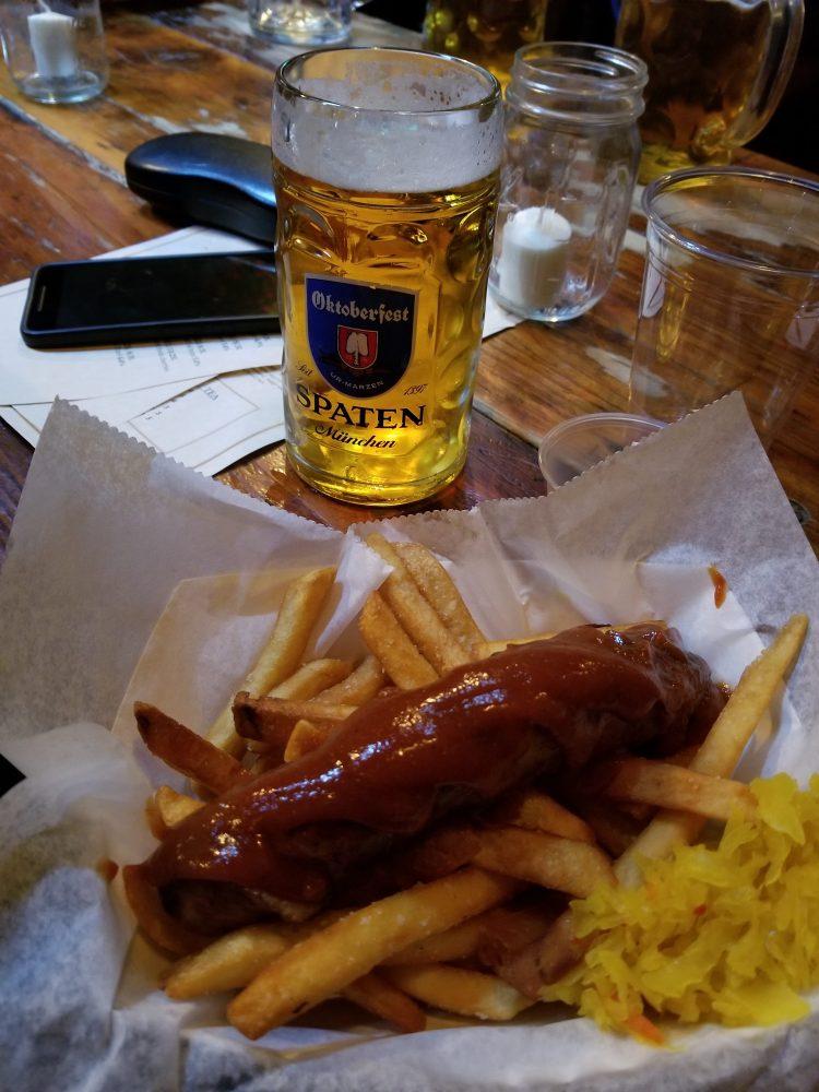 Currywurst at Radegast Bierhall