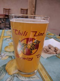 A beer at Chili Line Brewing in Santa Fe