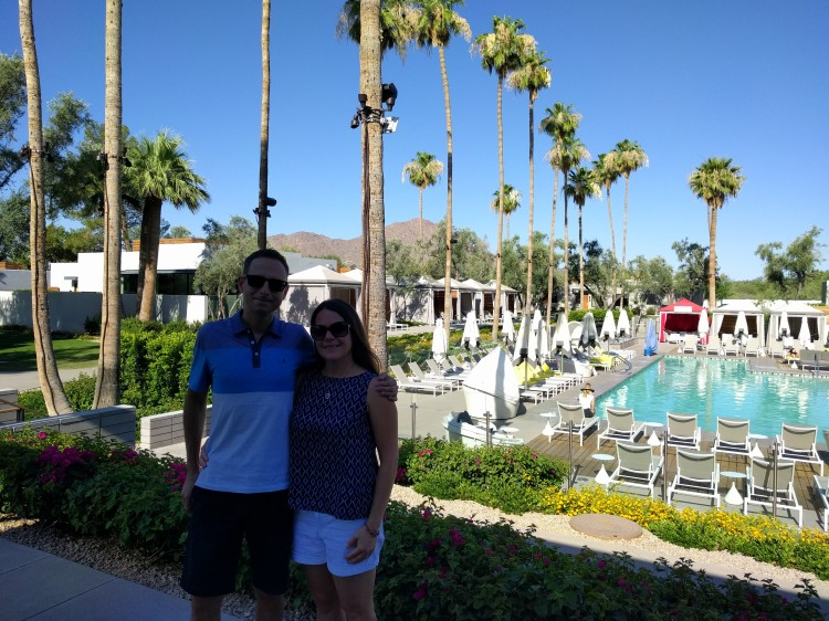 Us by the pool at the Andaz Scottsdale