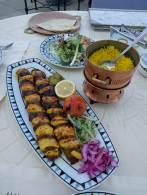 Kebabs and rice at Parisa 's Sharq Village location