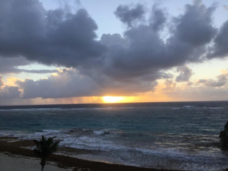 Crane Beach on the East Coast of Barbados at sunrise