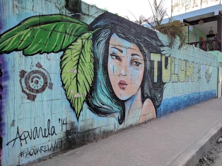 Mural in Tulum Town: Tulum Te Amo