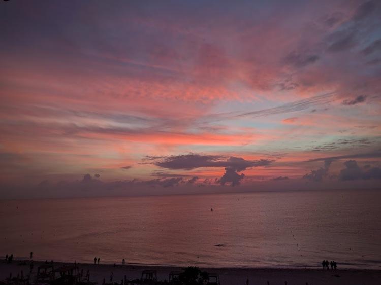 Sunrise from the Grand Hyatt Playa Del Carmen