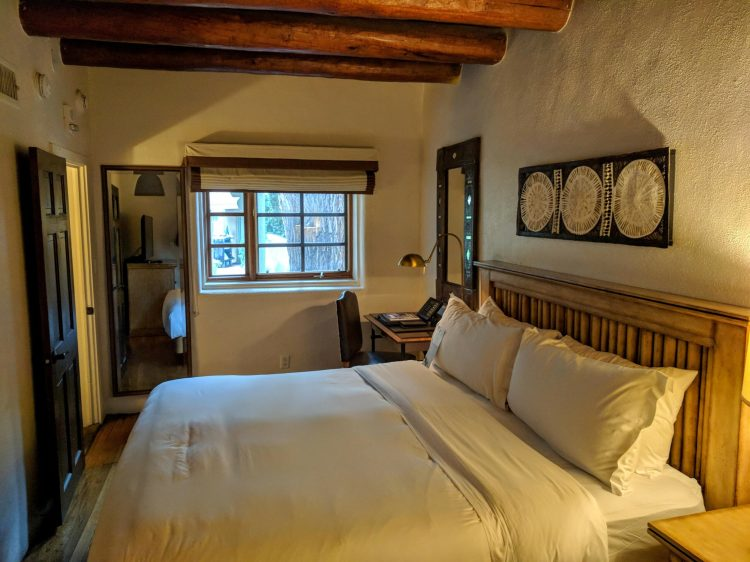 La Posada de Santa Fe: bedroom in the suite