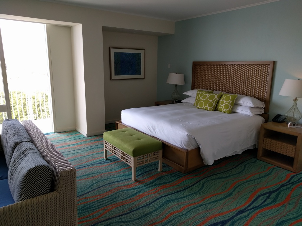 Junior Suite upgrade at the Hilton Curacao