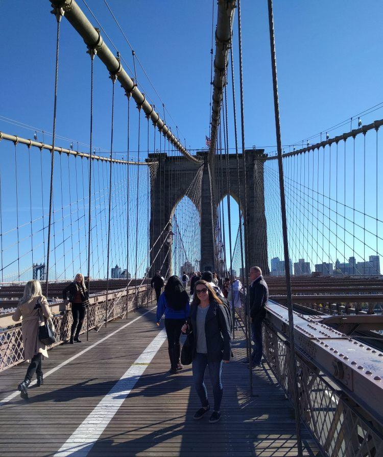 Max on the Brooklyn Bridge