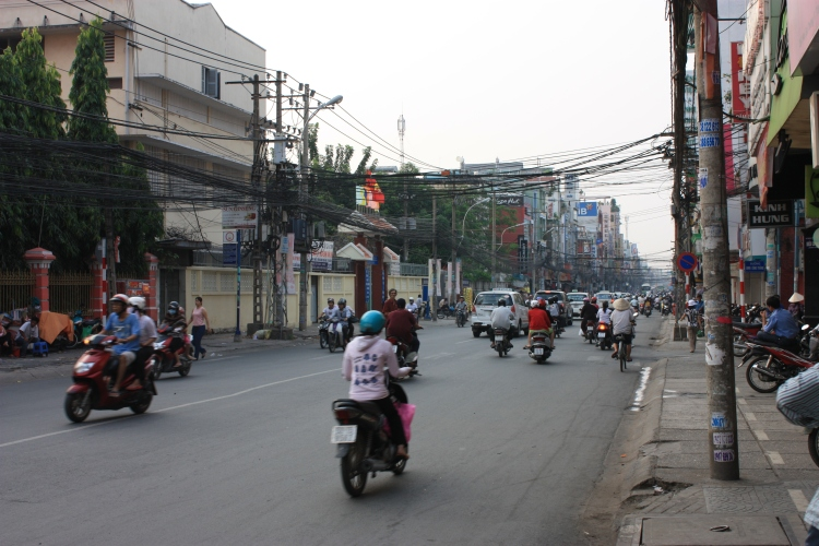 A quieter street in Ho Chi Minh City
