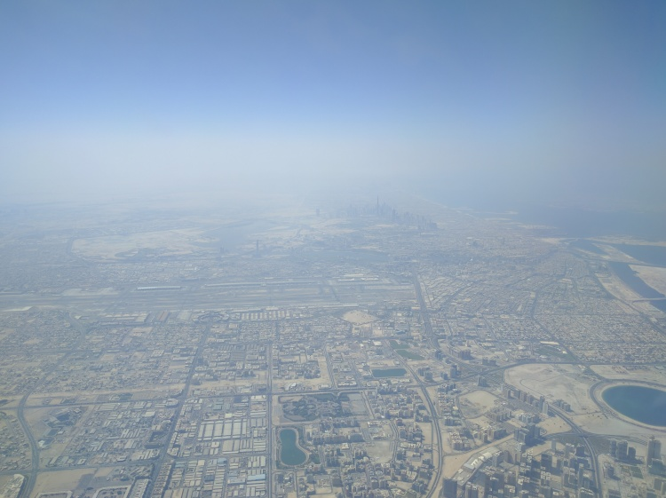 Landing in DXB