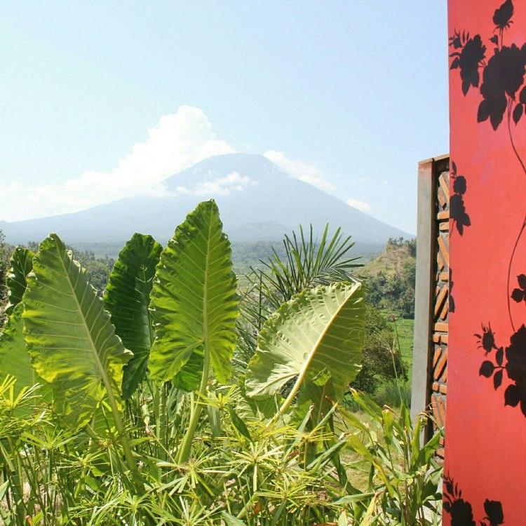 View of Mount Agung from Bali Asli Restaurant