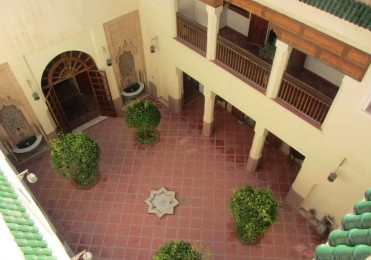 The courtyard before the restoration
