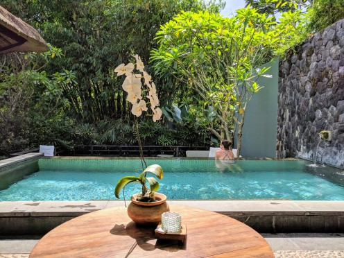 The pool in Bamboo Villa 2