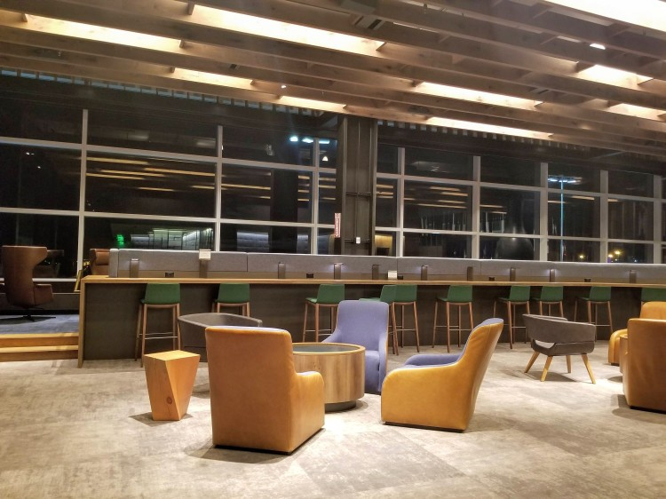 Alaska Lounge N-Gates: Seating in the quiet area