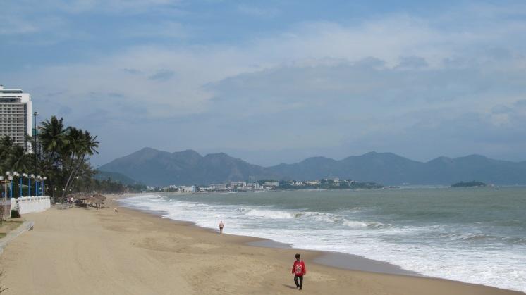 The beach by the Sheraton Nha Trang