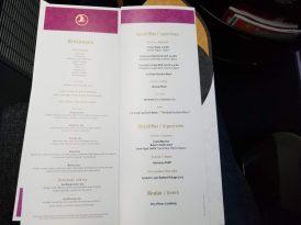 Drinks menu; great selection of teas