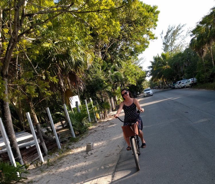 Biking in Tulum