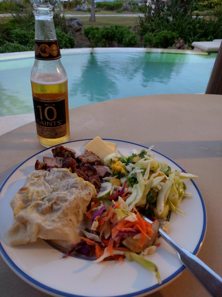 Chefette roti with homemade salads