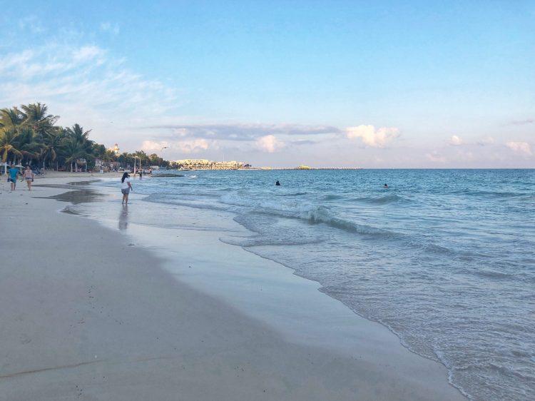Playa Del Carmen Beach in February 2020: Photo credit to www.bingoabroad.com