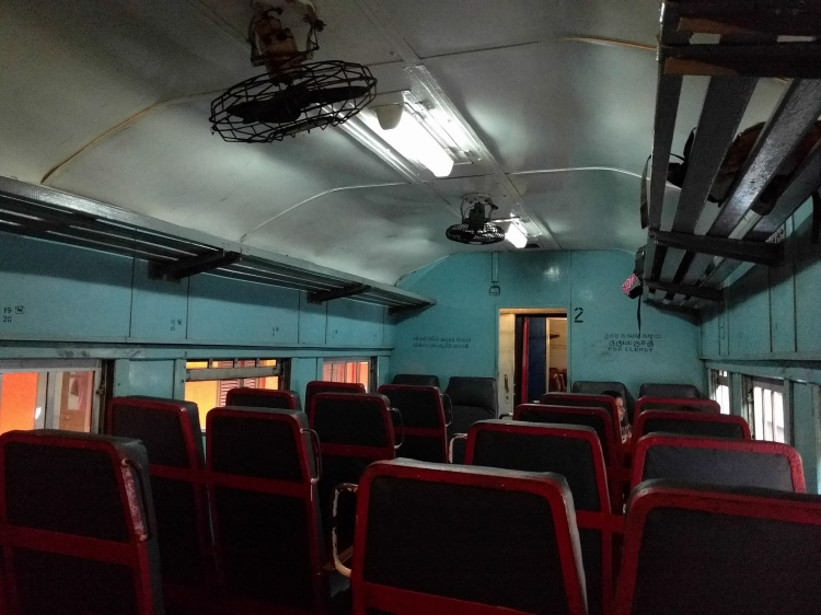 Inside the train in 2nd class