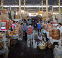 A traditional market in Cusco