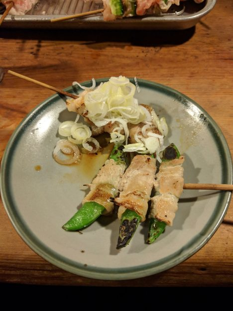 Grilled skewers at Sasamoto
