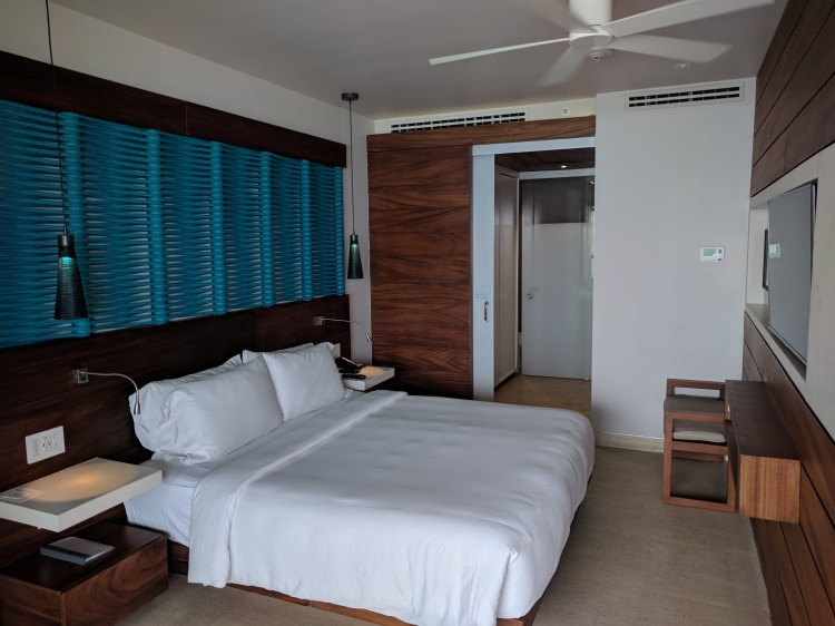Bedroom in a suite at the Grand Hyatt Playa Del Carmen