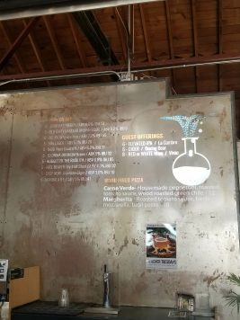 Beer list at Dialogue Brewing in Albuquerque