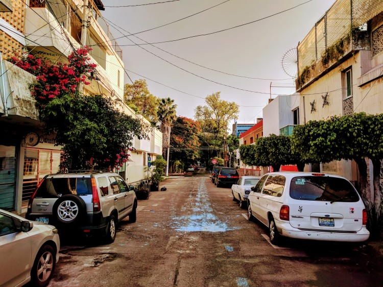 A sidestreet/neighbourhood in Guadalajara