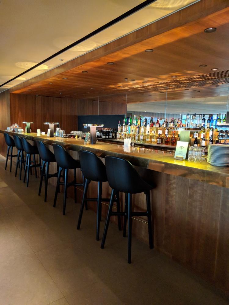 The bar at The Pier at HKG
