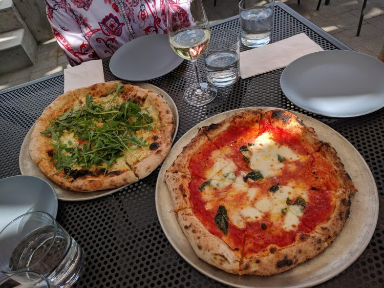 Pizzas at the Upper Bench Creamery