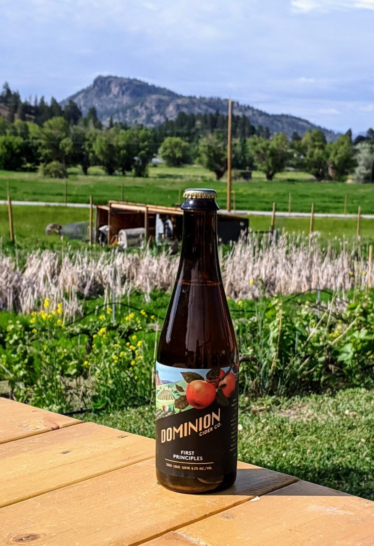 Buying Dominion Cider at the source in Summerland