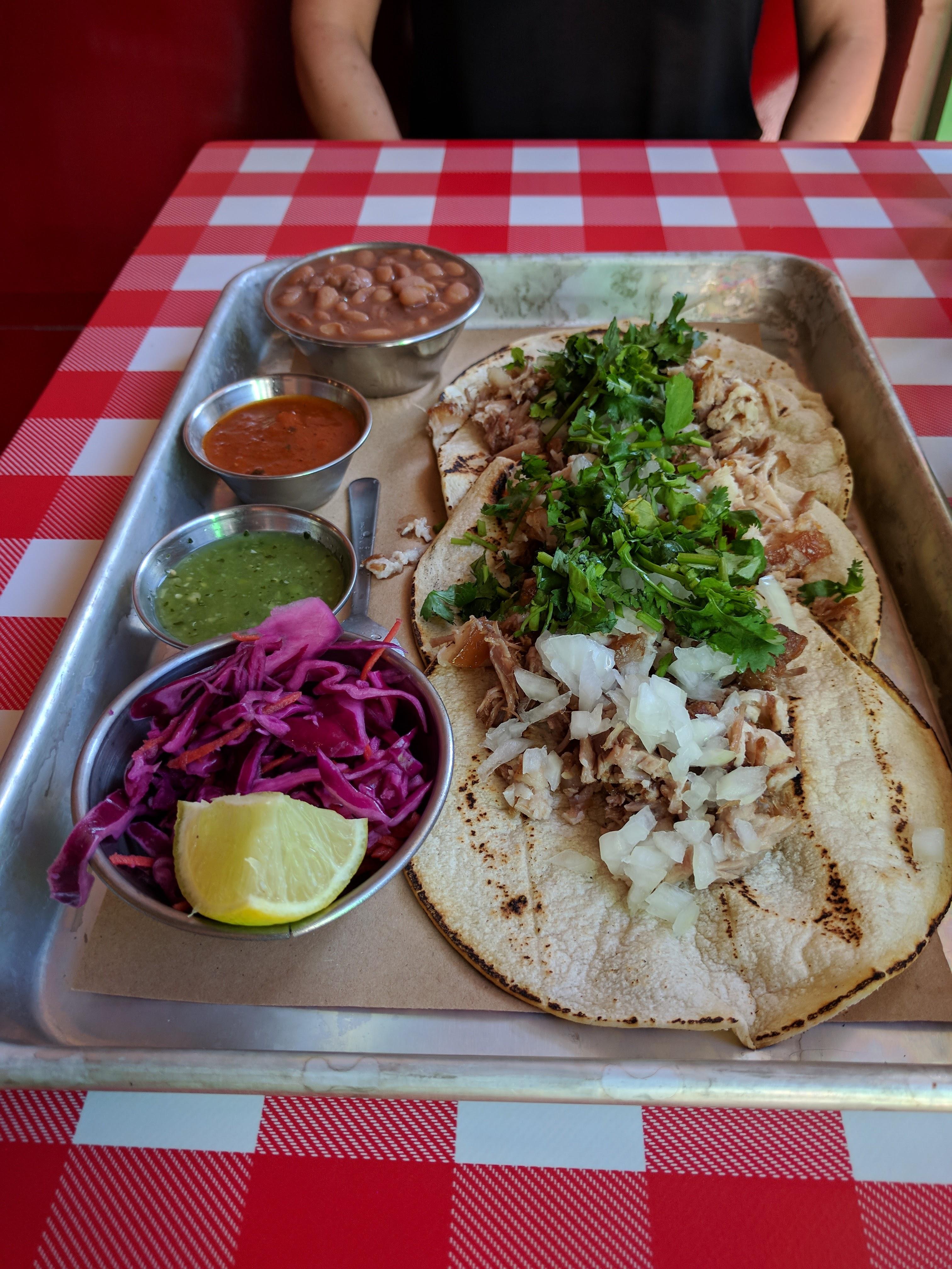 Carnitas tacos at Chancho
