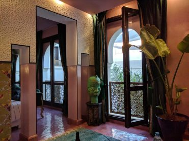 Our room at Dar Kandi with windows that open!