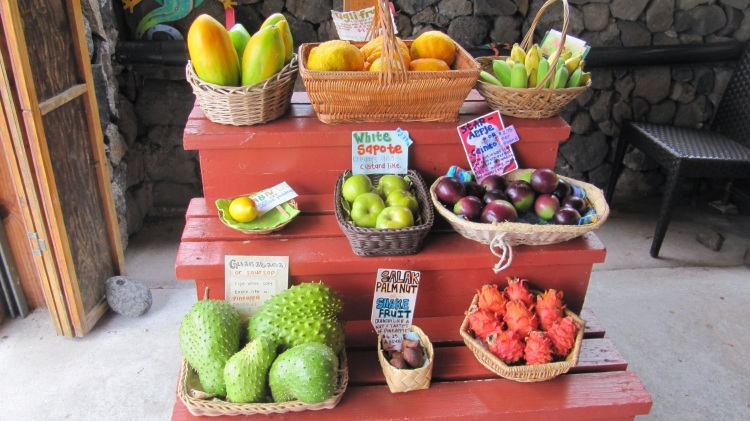 Exotic fruit at the South Kona Fruit Stand