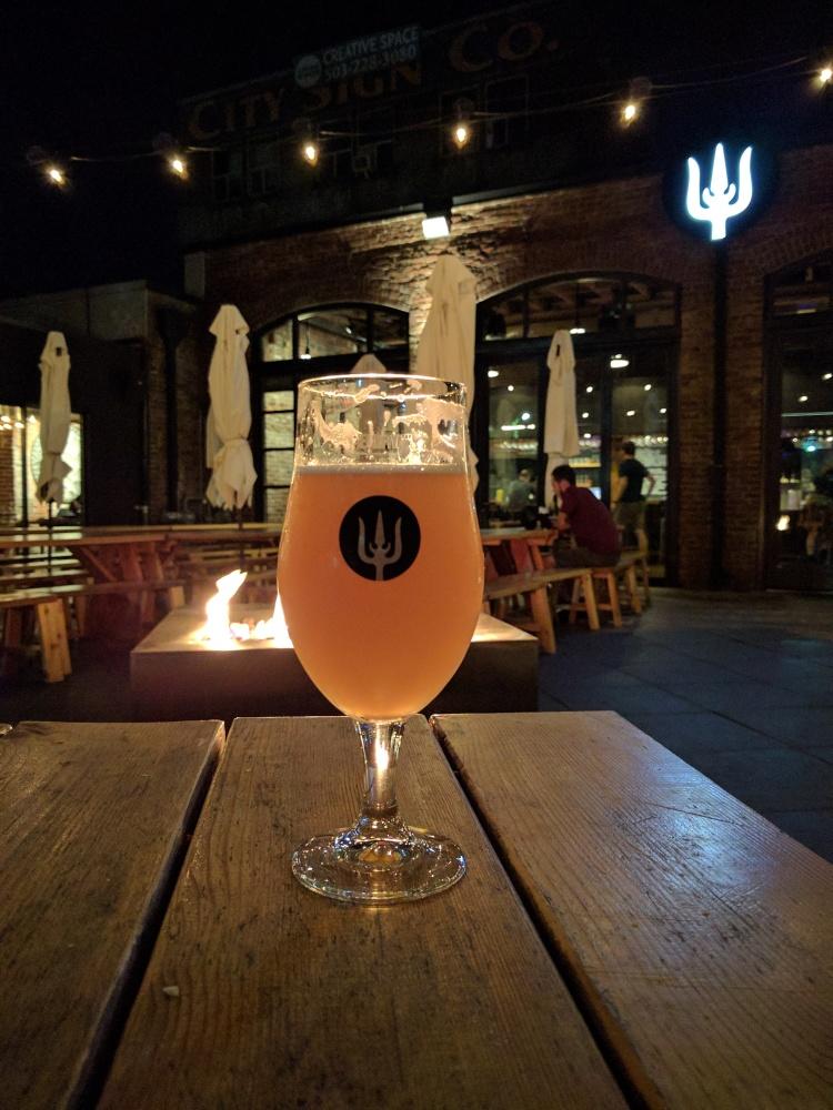 Beer on the patio at Wayfinder