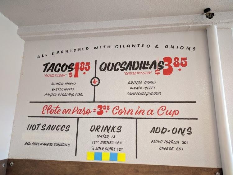 Trompo menu
