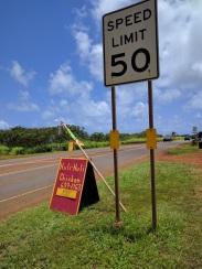 Anahola Huli-Huli Chicken Kauai Sign