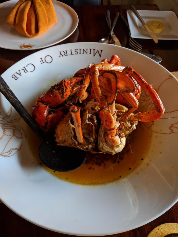 Medium-sized crab