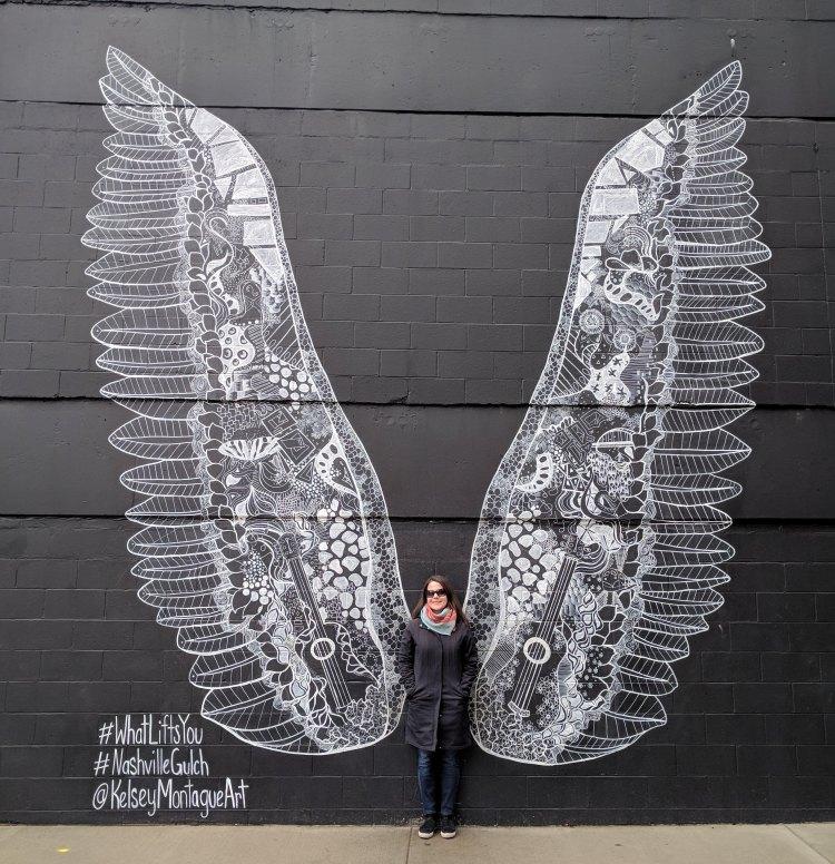 Mural in Nashville's Gulch neighbourhood