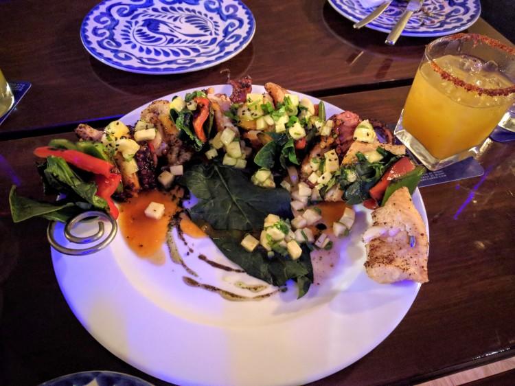 Seafood skewer at Buccano's