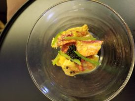 simmered lobster with sea urchin