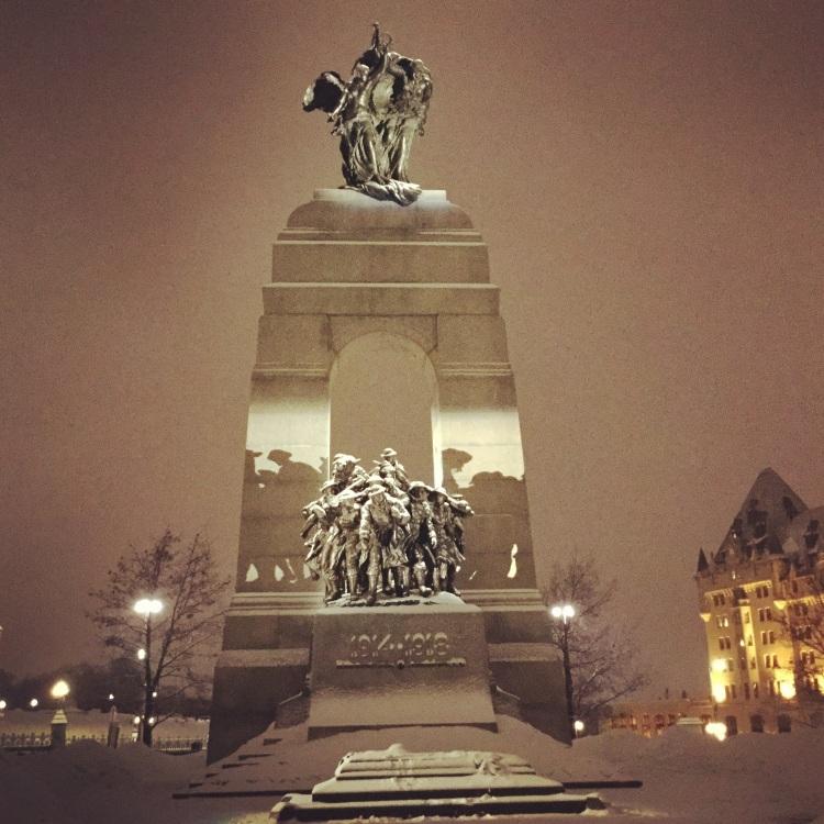 The National War Memorial is a 10 minute walk away