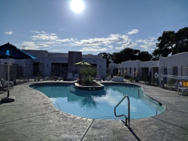 The pool at the El Vado Motel in Albuquerque