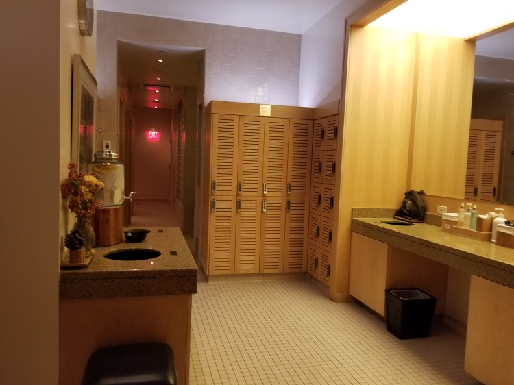 Lockers and change area at the spa