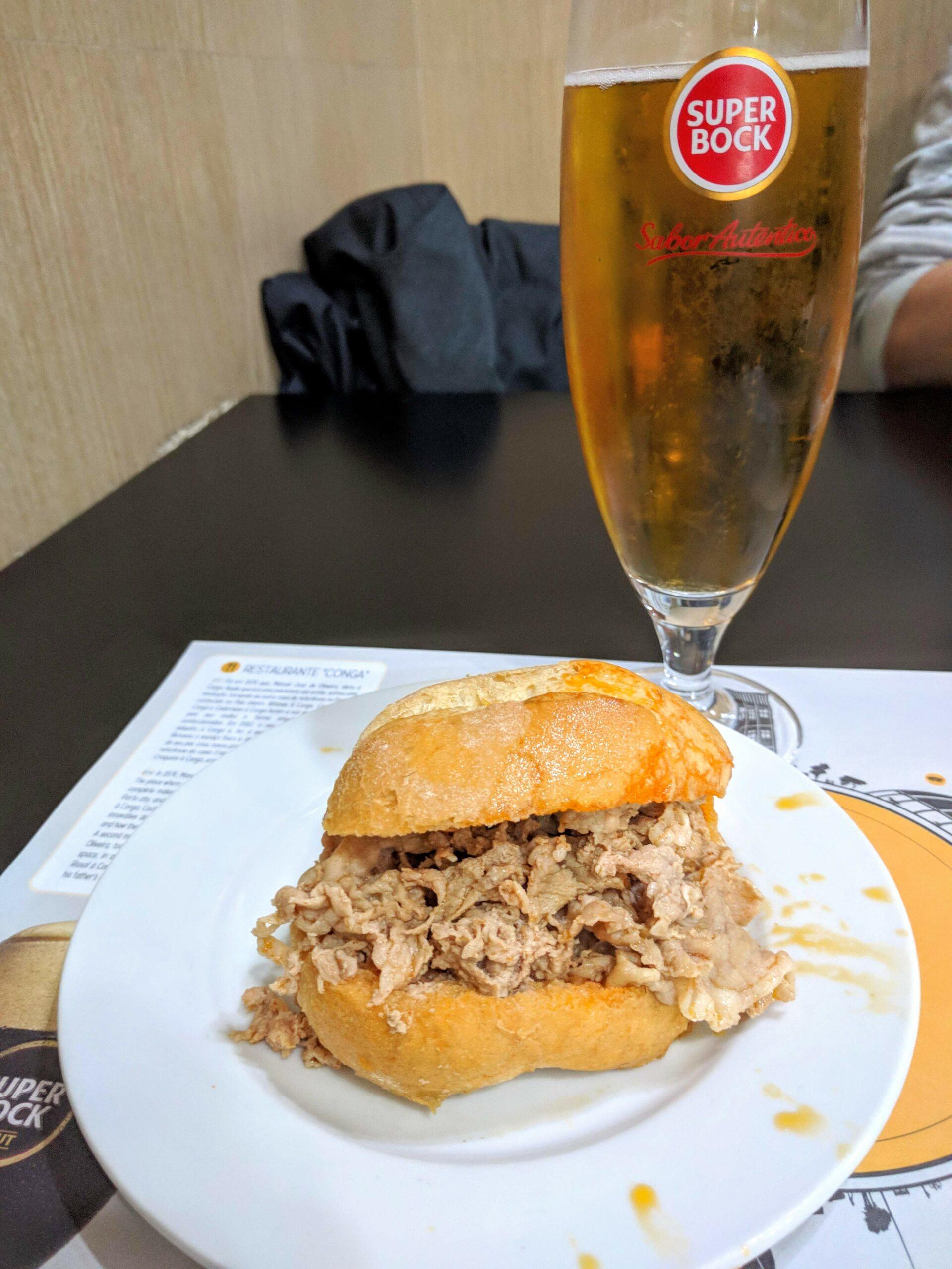 Bifana and beer at Casa Conga
