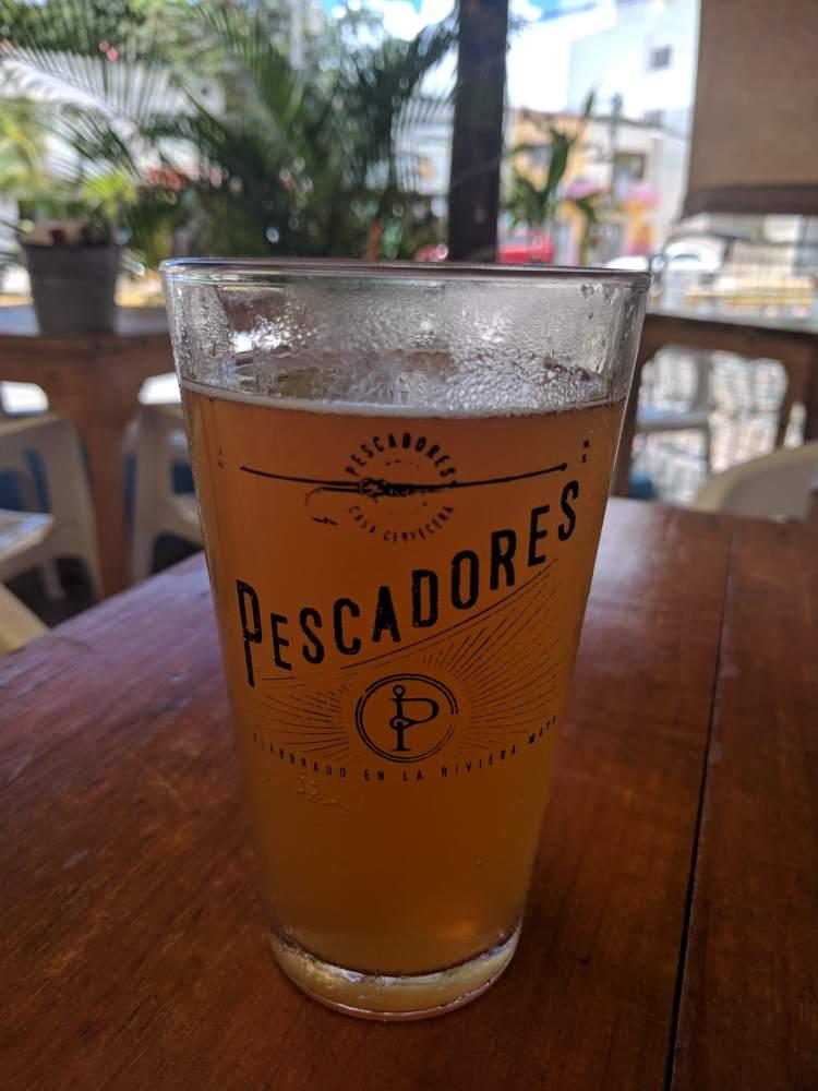 Cerveza Pescadores in Puerto Morelos