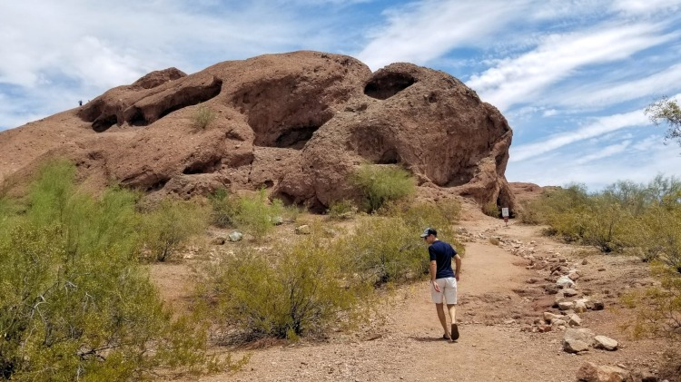 Trail leading up to Hole-in-the-Rock at Papago Park